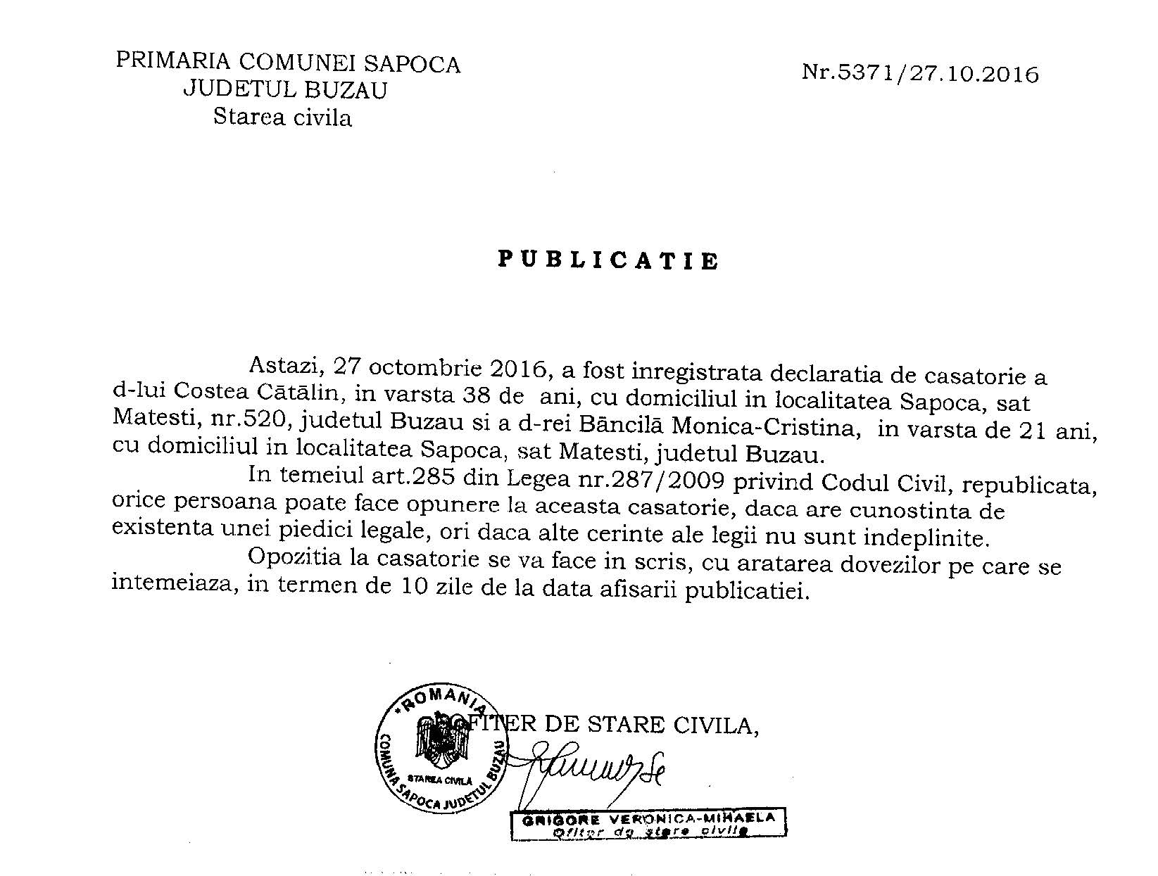 publicatie-casatorie-costa-catalin-si-bancila-monica-cristina